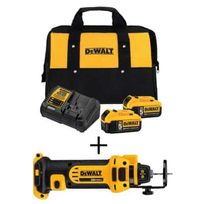 20-Volt MAX Cordless Drywall Cut-Out Tool with (2) 20-Volt Batteries 5.0Ah & Charger