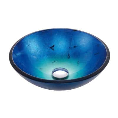 Irruption Glass Vessel Sink in Blue