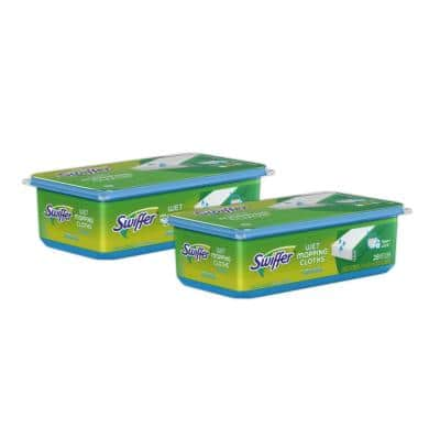 Sweeper with Open Window Fresh Scent Wet Mop Pad Refills (28-Count, 2-Pack)