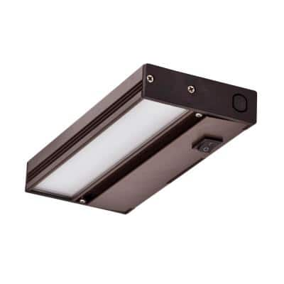 NUC 8 in. LED Oil-Rubbed Bronze Dimmable Under Cabinet Light for Hardwire Installation