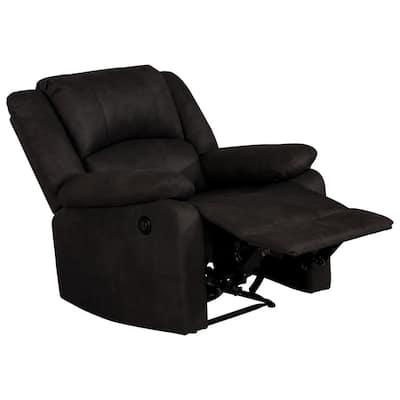 Anya Reflex 22 in. Width Standard Java Fabric Adjustable Headrest 1 Position Recliner