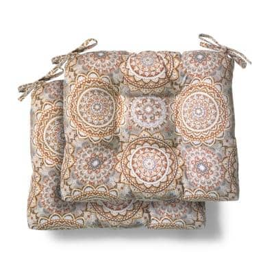 19 in. x 18 in. x 4.5 in. Patnos Small Riverbed Tufted Outdoor Seat Cushion (2 Pack)