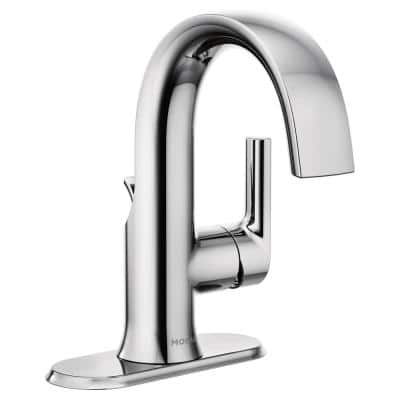Doux Single Hole Single-Handle Bathroom Faucet in Chrome