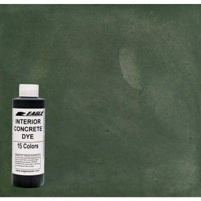 1 gal. Thistle Green Interior Concrete Dye Stain Makes with Water from 8 oz. Concentrate