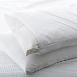 300-Thread Count Cotton Sateen Standard Gusset Pillow Protector