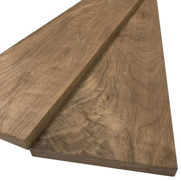 Swaner Hardwood 1 in. x 8 in. x 8 ft. S4S Walnut Board (2-Pack) | The Home Depot