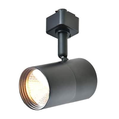 1-Light Black Integrated LED Mini-Cylinder Linear Track Lighting Head
