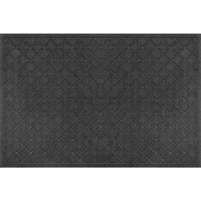 Aqua Shield Cordova Charcoal 34 in. x 52 in. Doormat