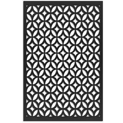 Moors Ellipses 32 in. x 4 ft. Black Vinyl Decorative Screen Panel