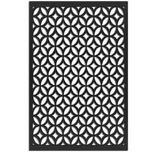 Moors Ellipses 4 ft. x 32 in. Black Vinyl Decorative Screen Panel