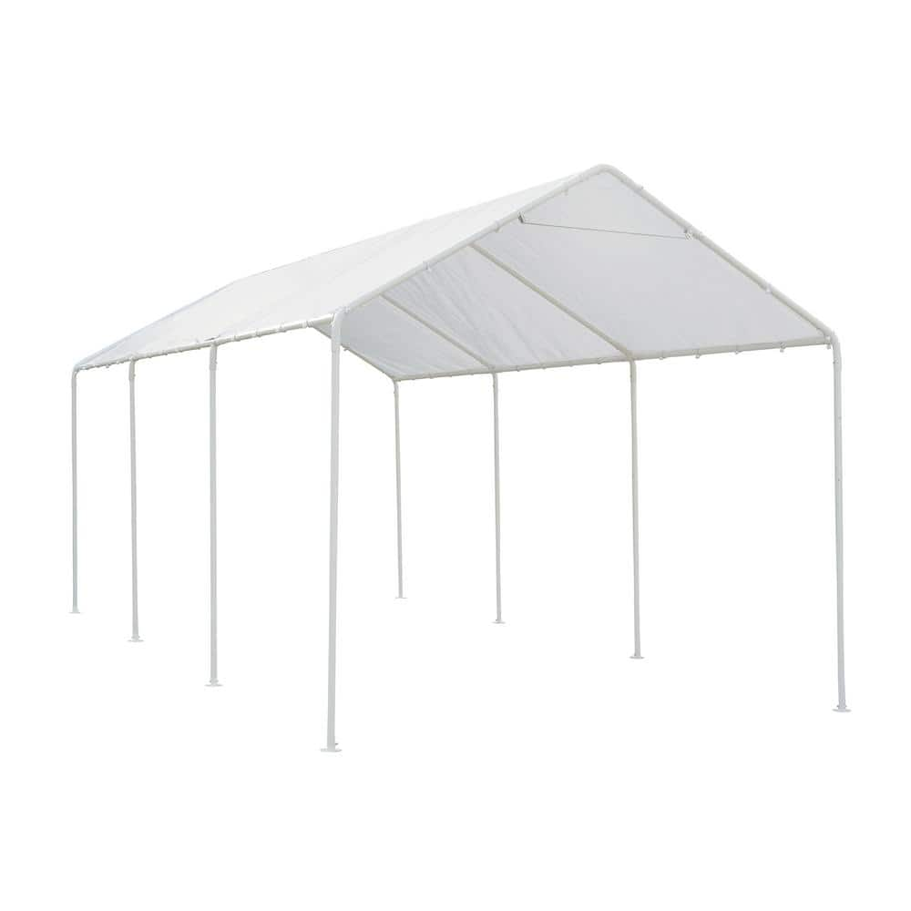 Direct Wicker Plato 20 Ft W X 10 Ft L Heavy Duty 8 Steel Legs Car Canopy Carport W230s00001 The Home Depot