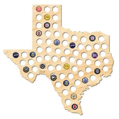 21 in. x 20 in. Large Texas Beer Cap Map