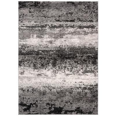 Spirit Charcoal/Light Gray 9 ft. x 12 ft. Solid Area Rug