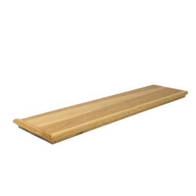 0.625 in. x 11.5 in. x 48 in. Prefinished Natural Hickory Retread Left Return