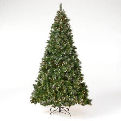 9 ft. Pre-Lit LED Mixed Spruce Artificial Christmas Tree with 750 Clear Lights