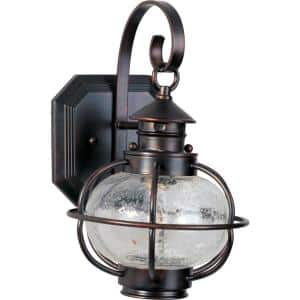 Portsmouth 1-Light Oil Rubbed Bronze Outdoor Wall Lantern Sconce