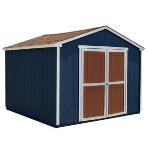 Installed Princeton 10 ft. x 10 ft. Wood Storage Shed with Autumn Brown Shingles