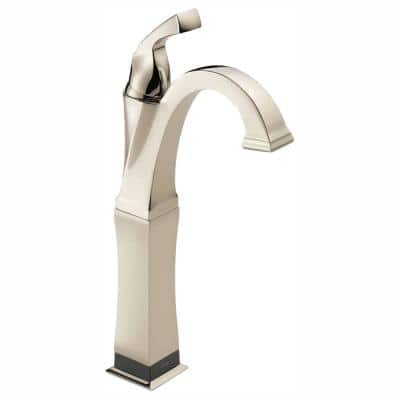 Dryden Single Hole Single-Handle Vessel Bathroom Faucet with Touch2O.xt Technology in Polished Nickel