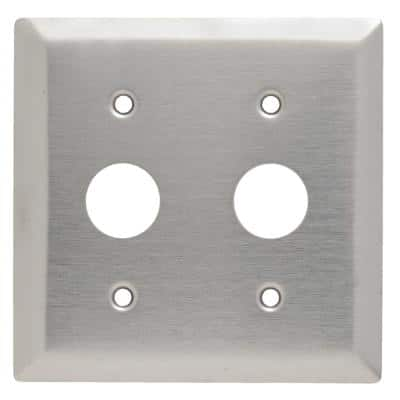 Pass & Seymour 302/304 S/S 2 Gang 2 KL Locking Switch 0.906-in. Hole Wall Plate, Stainless Steel (1-Pack)