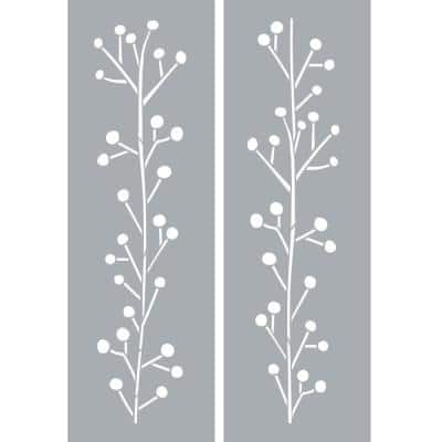 6 in. x 18 in. Winterberries Stencil