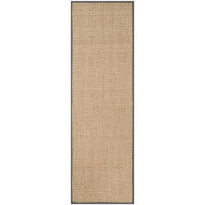 Natural Fiber Beige/Dark Gray 3 ft. x 10 ft. Indoor Runner Rug