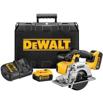20-Volt MAX Cordless 5-1/2 in. Metal Cutting Circular Saw with (2) 20-Volt Batteries 5.0Ah