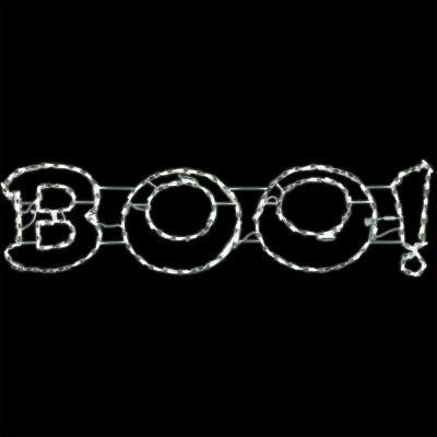 63 in. x 16 in. Boo Sign Indoor/Outdoor Led Halloween Window Light