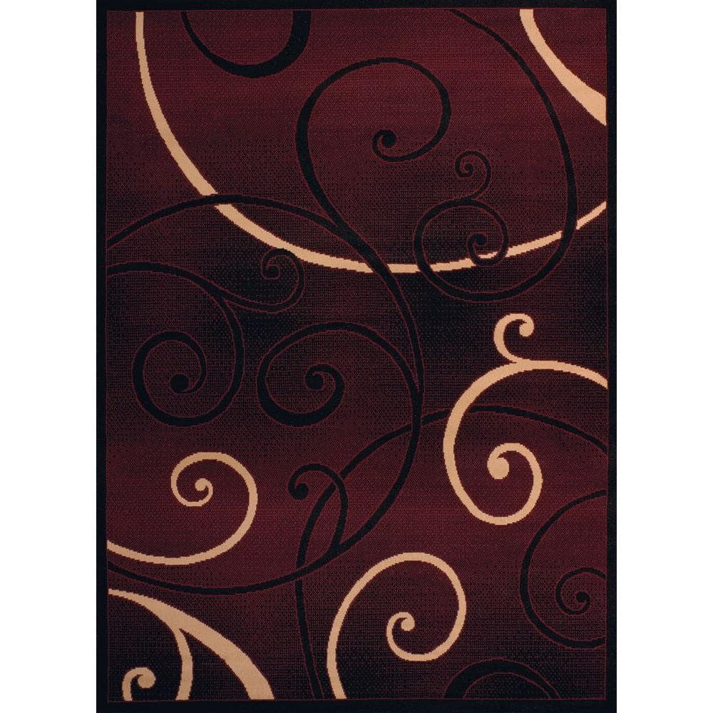 United Weavers Dallas Bangles Burgundy 8 Ft X 11 Ft Indoor Area Rug 851 10934 912 The Home Depot