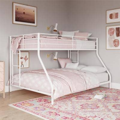 Fulton White Metal Twin Over Full Bunk Bed