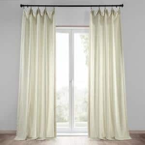 Barley Solid Rod Pocket Light Filtering Curtain - 50 in. W x 96 in. L