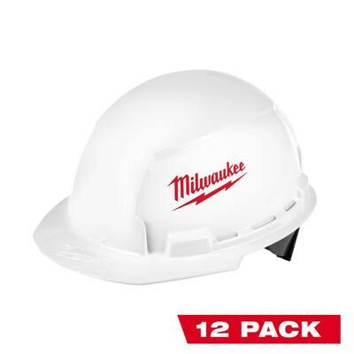 BOLT White Type 1 Class E Front Brim Hard Hat (12-Pack)