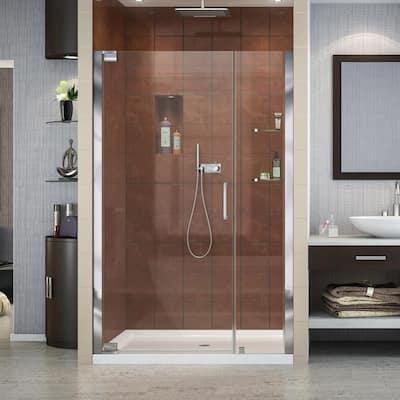 Elegance 46 in. to 48 in. x 72 in. Semi-Frameless Pivot Shower Door in Chrome