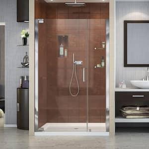 Elegance 47-3/4 in. to 49-3/4 in. x 72 in. Semi-Frameless Pivot Shower Door in Chrome