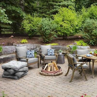16 x 16 Garden Delight Square Outdoor Throw Pillow (2-Pack)