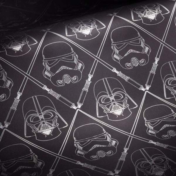 Roommates Star Wars Dark Side Peel And Stick Wallpaper Covers 28 18 Sq Ft Rmk11063wp The Home Depot