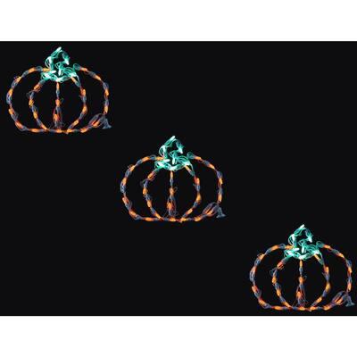 Mini Pumpkins Indoor/Outdoor LED Halloween Window Lights (Set of 3)