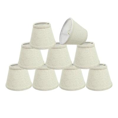 5 in. x 4 in. Oatmeal Hardback Empire Lamp Shade (9-Pack)