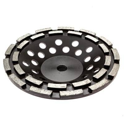 7 in. Double Row Diamond Grinding Cup Wheel