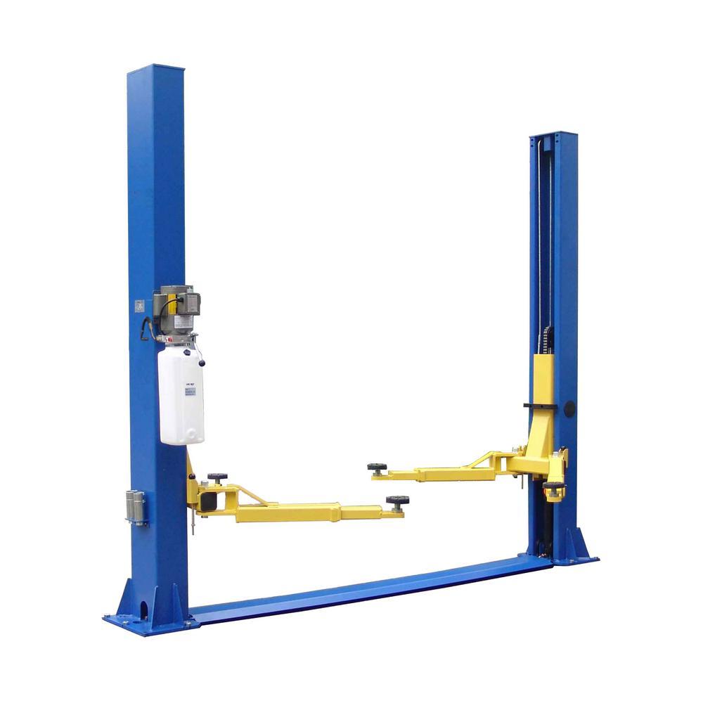 Symmetric 2 Post Floor Plate 9,000 lbs. Capacity Heavy Duty in Blue