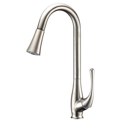 Singer Series Single-Handle Pull-Down Sprayer Kitchen Faucet in Brushed Nickel