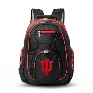 NCAA Indiana Hoosiers 19 in. Black Trim Color Laptop Backpack