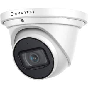 UltraHD 4K (8MP) Wired Outdoor Security Turret POE IP Security Camera, 2.8 mm Lens, IP67 Weatherproof, Built in Mic