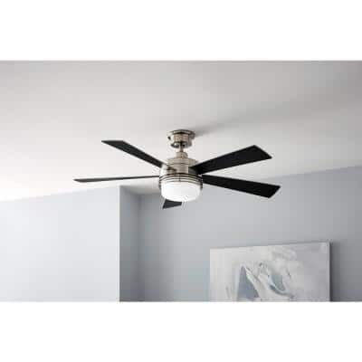 Sussex II 52 in. LED Brushed Nickel Ceiling Fan with Light and Remote Control