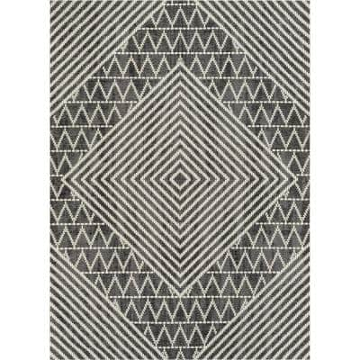 Chevron Gray Area Rugs Rugs The Home Depot