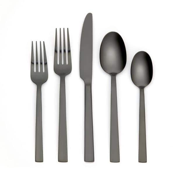 Ornative Tableware Emma 20-Piece Black 18/0 Stainless Steel Flatware Set (Service for 4) | The Home Depot