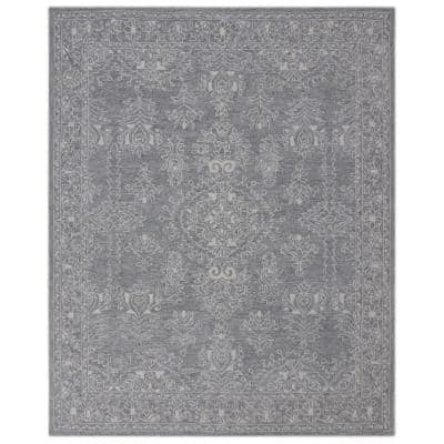 Grey Hand Tufted Lyerly Grey 8 ft. x 10 ft. Area Rug