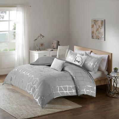 Khloe Geometric Comforter Set