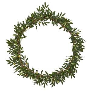 28 in. Olive Artificial Wreath