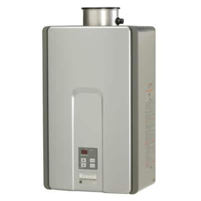 High Efficiency Plus 9.8 GPM Residential 199,000 BTU Natural Gas Interior Tankless Water Heater