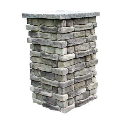 Random Stone Gray 42 in. Outdoor Decorative Column